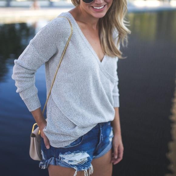 UO Kimchi Blue Sunny Surplice Sweater